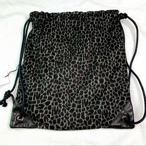 NWT Outdoor voices Leopard Cloth Bag F319